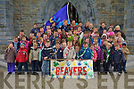 The county beavers southern province pictured at St Marys cathedral on Sunday where they received high visibility vests from Kerry Mayor Tom Fleming..