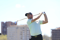 Bradley Neil (SCO) on the 2nd tee during Round 3 of the Open de Espana 2018 at Centro Nacional de Golf on Saturday 14th April 2018.<br /> Picture:  Thos Caffrey / www.golffile.ie<br /> <br /> All photo usage must carry mandatory copyright credit (&copy; Golffile | Thos Caffrey)