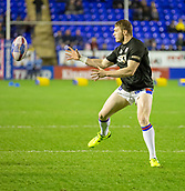 23rd March 2018, Halliwell Jones Stadium, Warrington, England; Betfred Super League rugby, Warrington Wolves versus Wakefield Trinity; Jacob Miller  warms up before the game