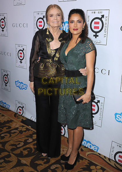 BEVERLY HILLS, CA - NOVEMBER 3:  Gloria Steinem and Salma Hayek at the Equality Now &quot;Make Equality Reality&quot; Event at the Montage Hotel on November 3, 2014 in Beverly Hills, California.  <br /> CAP/MPI/PGSK<br /> &copy;PGSK/MediaPunch/Capital Pictures