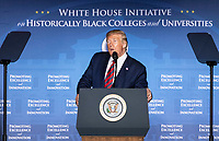 United States President Donald J. Trump delivers remarks at the 2019 National Historically Black Colleges and Universities Week Conference at the Renaissance Hotel in Washington, DC on Tuesday, September 10, 2019. <br /> CAP/MPI/RS<br /> ©RS/MPI/Capital Pictures