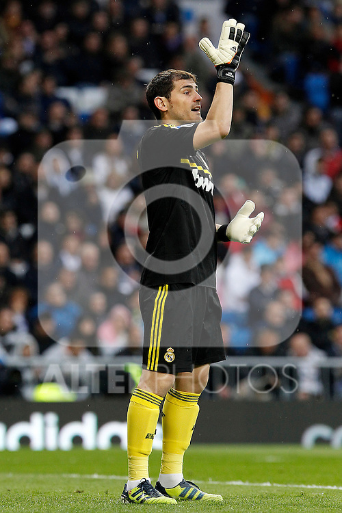 Real Madrid's Iker Casillas during La Liga match.April 14,2012. (ALTERPHOTOS/Acero)
