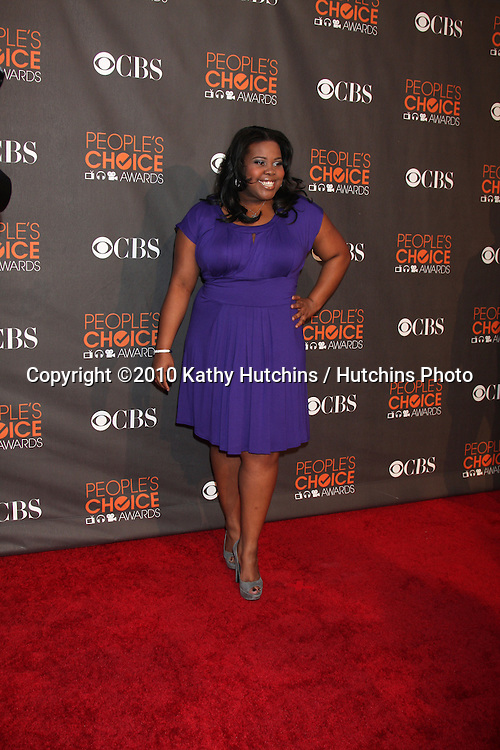 Amber Riley.arriving  at the 2010 People's Choice Awards.Nokia Theater.January 6, 2010.©2010 Kathy Hutchins / Hutchins Photo.
