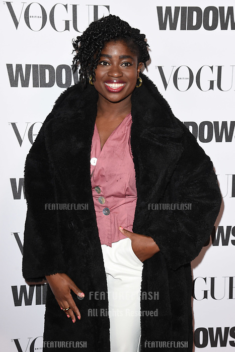 """LONDON, UK. October 31, 2018: Clara Amfo at the """"Widows"""" special screening in association with Vogue at the Tate Modern, London.<br /> Picture: Steve Vas/Featureflash"""