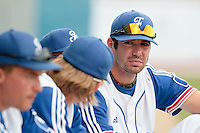 25 july 2010: Pierrick Le Mestre of France is seen in the dugout during France 6-1 victory over Czech Republic, in day 3 of the 2010 European Championship Seniors, in Neuenburg, Germany.