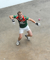 21st September 2013; Joe McCann, Mayo, in action in the Men's senior doubles final. GAA Handball, All-Ireland Finals, Broadford Handball Club, Co Limerick. Picture credit: Tommy Grealy/actionshots.ie.