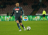 David Lopez  during the Italian Serie A soccer match between   SSC Napoli and Atalanta  at San Paolo  Stadium in Naples ,March 22 , 2015<br /> <br /> <br /> incontro di calcio di Serie A   Napoli -Atalanta allo  Stadio San Paolo  di Napoli , 22  Marzo 2015