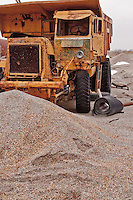 """Chat"" the waste product of lead and zinc mining has left over 75 million tons of ground rock contaminated with lead and iron surrounding the town of Picher Oklahoma. Picher is considered the most toxic site in the US was the top priority for the Tar Creek Superfund.  The EPA has declared Picher to be one of the most toxic areas in the United States, and beyond being able to be cleaned up.  A government buyout, and a devastating tornado in 1998 turned a once thriving mining town into a ghost town almost overnight.  Picher ceased to exist offically as a town on Sept. 1, 2009."