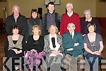 BALLYMACELLIGOTT SOCIAL: Enjoying a great time at the Ballmacelligott Social night at St Brendan's community centre, Ballmacelligott on Friday seated l-r: Florie Poff Foley, Peggy Murphy-Brosnan, Mary Howarth, Roundy McEllistrim and Kathleen Herlihy Back l-r: Jerry O'Sullivan, Florence Ahern, Peter Burke, Peter Howarth and Judy O'Connor.
