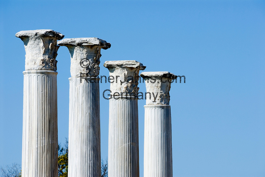 CYPRUS, North cyprus, Salamis: ancient settlement and archaelogical excavation . Corinthian columns<br />