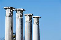 CYPRUS, North cyprus, Salamis: ancient settlement and archaelogical excavation . Corinthian columns<br />