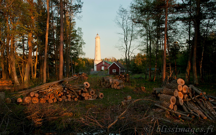 The land surrounding Säppi lighthouse has been slowly overgrown by forest since it is no longer used by grazing animals or their keepers. Clearings are now being made on the island to have more seaview -Gulf of Bothnia southwest of Pori, Finland.