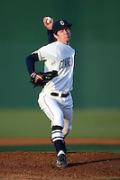 February 21, 2009:  Pitcher/Outfielder Elliot Glynn (21) of the University of Connecticut during the Big East-Big Ten Challenge at Jack Russell Stadium in Clearwater, FL.  Photo by:  Mike Janes/Four Seam Images