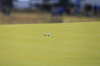Two balls on the 8th green during Round 2 of the Aberdeen Standard Investments Scottish Open 2019 at The Renaissance Club, North Berwick, Scotland on Friday 12th July 2019.<br /> Picture:  Thos Caffrey / Golffile<br /> <br /> All photos usage must carry mandatory copyright credit (© Golffile | Thos Caffrey)