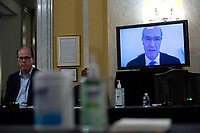 Mark Mulligan, MD, of New York University's Grossman School of Medicine, speaks via video call during a United States Senate Aging Committee hearing at the United States Capitol in Washington D.C., U.S. on Thursday, May 21, 2020.  Credit: Stefani Reynolds / CNP /MediaPunch
