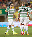 Celtic's Beram Kayal celebrates after he scores their first goal.