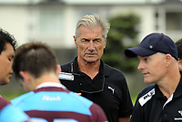 IRANZ staff Murray Mexted and Jon Preston during the rugby match between Rongotai College XV and Club Atletico del Rosario Under-17 at Evan's Bay Park in Wellington, New Zealand on Wednesday, 28 February 2018. Photo: Dave Lintott / lintottphoto.co.nz