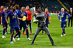 Eric Bailly of Manchester United celebrates with the trophy after the UEFA Europa League Final match at the Friends Arena, Stockholm. Picture date: May 24th, 2017.Picture credit should read: Matt McNulty/Sportimage