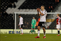 Aleksandar Mitrovic of Fulham FC applauds the fans as he leaves the field during the Sky Bet Championship match between Fulham and Sheff United at Craven Cottage, London, England on 6 March 2018. Photo by Carlton Myrie.