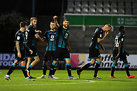 Borja of Swansea City celebrates scoring his side's second goal during the pre-season friendly match between Bristol Rovers and Swansea City at The Memorial Stadium in Bristol, England, UK. Tuesday, 23 July 2019