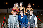 Enjoying the Mercy Mounthawk Debs in the Ballyroe Heights Hotel on Thursday night. Kneeling l-r, Conor O&rsquo;Brien, John Lynch and Joe Bastible.<br /> Back l-r, Jasmina George, Caitlin Cashman and Ayesha O&rsquo;Connell.
