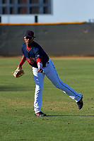 AZL Indians Red Marlin Made (22) warms up before an Arizona League game against the AZL Padres 1 on June 23, 2019 at the Cleveland Indians Training Complex in Goodyear, Arizona. AZL Indians Red defeated the AZL Padres 1 3-2. (Zachary Lucy/Four Seam Images)