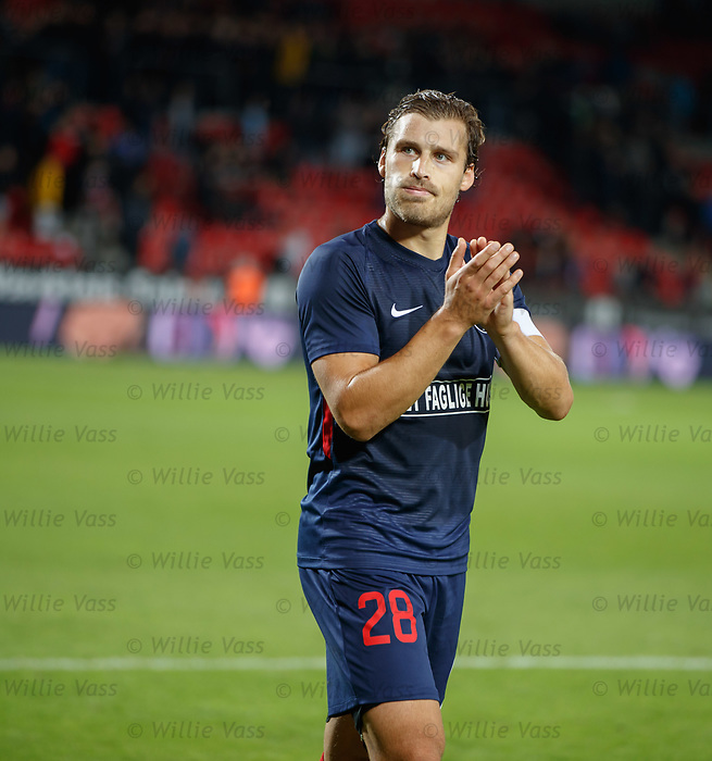08.08.2019 FC Midtjylland v Rangers: Erik Sviatchenko troops off at full time