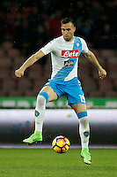 Nikola Maksimovic  during the  italian serie a soccer match,between SSC Napoli and Atalanta      at  the San  Paolo   stadium in Naples  Italy , February 25, 2017