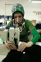 Textile worker in Pendik, Istanbul, Turkey