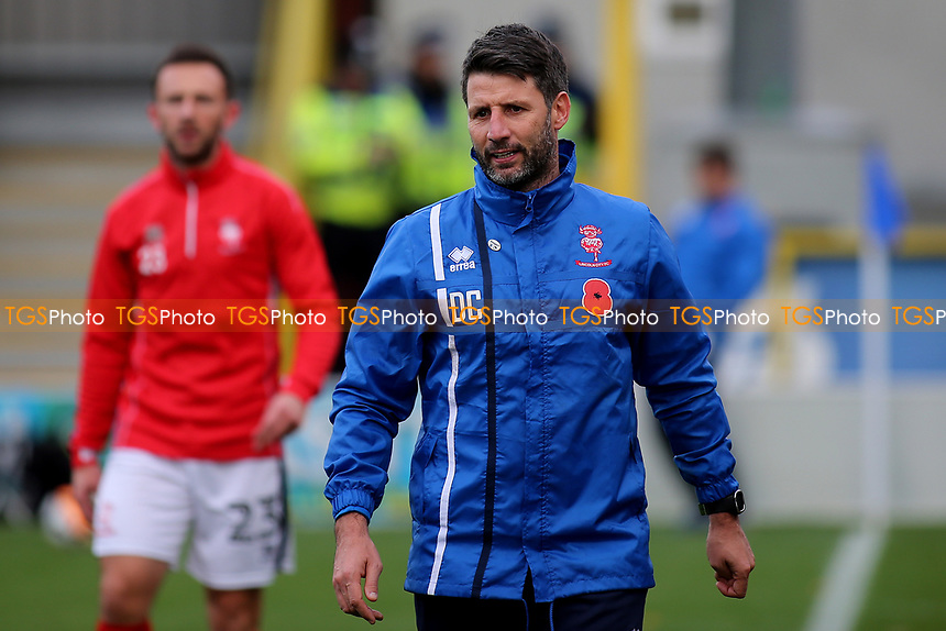 Lincoln City Manager, Danny Cowley during AFC Wimbledon vs Lincoln City, Emirates FA Cup Football at the Cherry Red Records Stadium on 4th November 2017