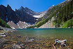Lake Agnes as seen from the area around the historic Lake Agnes Tea House