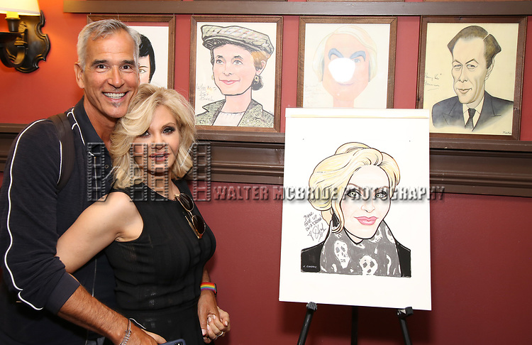 Jerry Mitchell and Orfeh during the Sardi's Portrait unveiling for Orfeh on July 18, 2019 in New York City.