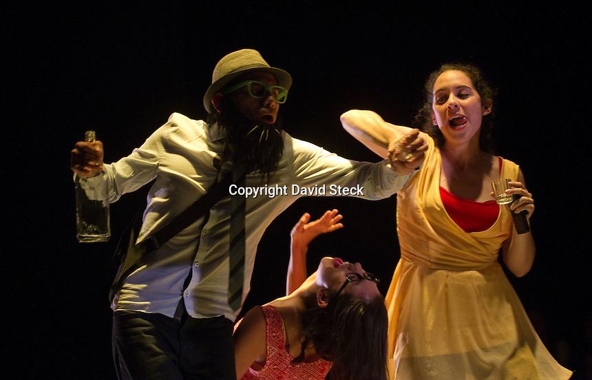 Quer&eacute;taro, Qro. 19 de Octubre de 2014.- &quot;Atabal&quot; Creaci&oacute;n Art&iacute;stica AC y &quot;Grupo Bar&oacute;n Negro&quot; laboratorio esc&eacute;nico presentaron &ldquo;Aspiracional&rdquo;, obra de teatro inspirada en la obra de Moli&egrave;re, &quot;Las preciosas rid&iacute;culas&quot; y adaptada por el dramaturgo mexicano Edgar Ch&iacute;as en el Museo de la Ciudad.<br />  <br /> La obra, dirigida por Ed&eacute;n Coronado, cuenta con las actuaciones de M&oacute;nica Montes, Mar&iacute;a Fernanda Monroy, Ana Bertha Cruces, Luc&iacute;a Rosher, Carlos Contreras y Leonardo Cabrera y forma parte de las presentaciones art&iacute;sticas de la &quot;Quinta Cruzada Central por el Teatro&quot;.<br /> <br /> Foto: David Steck Obture