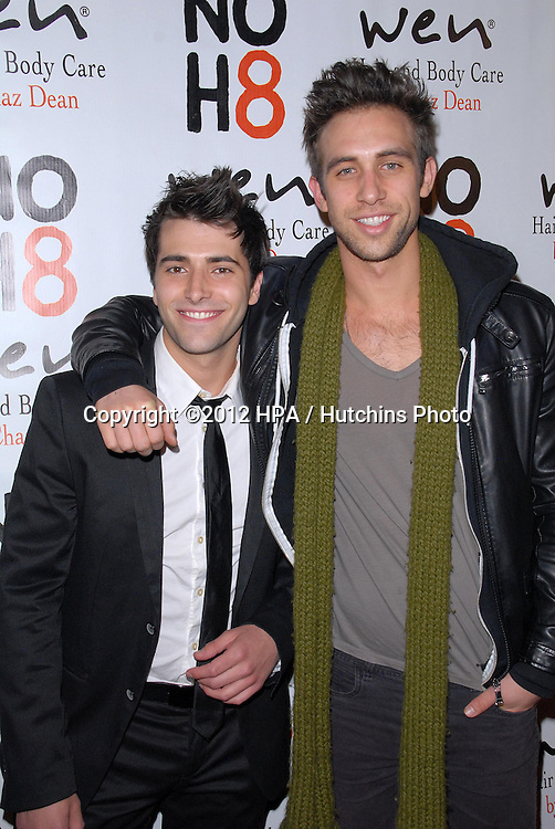 LOS ANGELES - DEC 12:  Freddie Smith, Blake Berris arrives to the NOH8 4th Anniversary Party at Avalon on December 12, 2012 in Los Angeles, CA