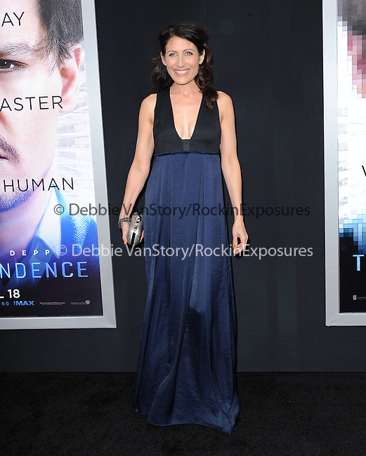 """Lisa Edelstein attends The L.A. Premiere of Alcon Entertainment's """"TRANSCENDENCE"""" held at The Regency Village Theater in Westwood, California on April 10,2014                                                                               © 2014Hollywood Press Agency"""