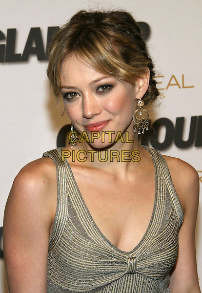 HILARY DUFF.Glamour Magazine's 2005 Women of the Year at Avery Fisher Hall, Lincoln Center, New York, NY.  .November 2nd, 2005.Photo: Jackson Lee/Admedia/Capital Pictures.Ref: JL/ADM.headshot portrait hoop earrings.www.capitalpictures.com.sales@capitalpictures.com.© Capital Pictures.