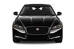 Car photography straight front view of a 2020 Jaguar XF Premium 4 Door Sedan