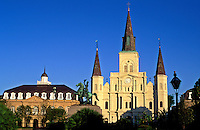 USA, Louisiana,New Orleans. Saint Louis Cathedral, Jackson Square and Cabild
