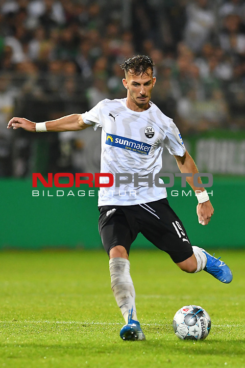 09.08.2019, BWT-Stadion am Hardtwald, Sandhausen, GER, DFB Pokal, 1. Runde, SV Sandhausen vs. Borussia Moenchengladbach, <br />