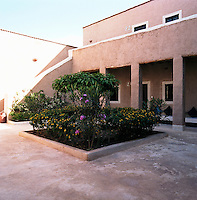 One of several inner courtyards that lead to the individual guest bedrooms