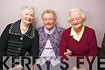 Teresa O'Loughlin, Ita Lane and Ayish Gayne enjoying the Sliabh Luachra Active Retired Network Tea Dance in An Riocht Castleisland on Sunday