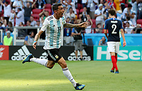 KAZAN - RUSIA, 30-06-2018: Angel DI MARIA jugador de Argentina celebra después de anotar el primer gol de su equipo a Francia durante partido de octavos de final por la Copa Mundial de la FIFA Rusia 2018 jugado en el estadio Kazan Arena en Kazán, Rusia. / Angel DI MARIA player of Argentina celebrates after scoring his team's first goal to France during match of the round of 16 for the FIFA World Cup Russia 2018 played at Kazan Arena stadium in Kazan, Russia. Photo: VizzorImage / Julian Medina / Cont
