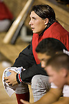 Chattanooga Lookouts starting pitcher Homer Bailey watches from the dugout as his team bats versus the Montgomery Biscuits at Riverwalk Stadium in Montgomery, AL, Friday, August 18, 2006.