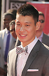 LOS ANGELES, CA - JULY 11: Jeremy Lin arrives at the 2012 ESPY Awards at Nokia Theatre L.A. Live on July 11, 2012 in Los Angeles, California.