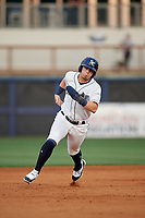 Charlotte Stone Crabs Carl Chester (9) running the bases during a Florida State League game against the Fort Myers Miracle on April 6, 2019 at Charlotte Sports Park in Port Charlotte, Florida.  Fort Myers defeated Charlotte 7-4.  (Mike Janes/Four Seam Images)
