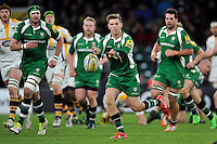 Chris Noakes of London Irish passes the ball. Aviva Premiership match, between London Irish and Wasps on November 28, 2015 at Twickenham Stadium in London, England. Photo by: Patrick Khachfe / JMP