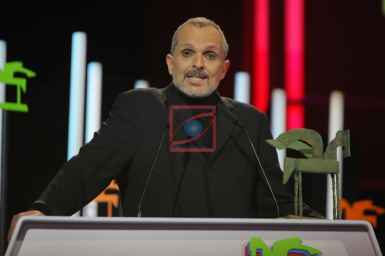 63 Premios Ondas.<br /> Gala de Entrega de los premios.<br /> Miguel Bose.