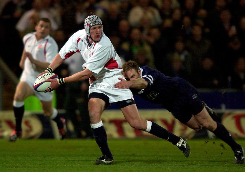 Photo. Richard Lane.England A v Scotland A at Franklins Gardens, Northampton. 20/03/2003.James Forrester