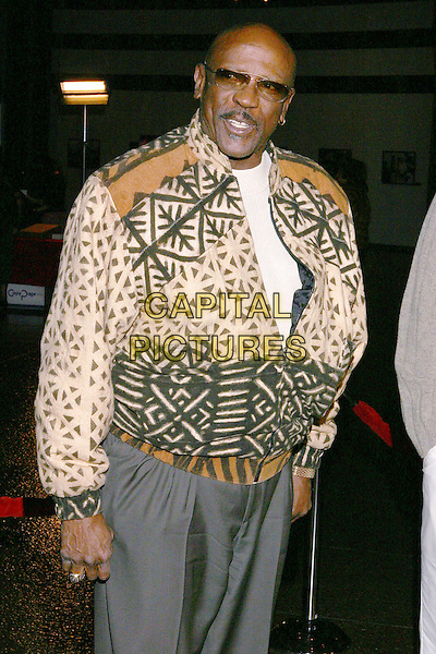 LOUIS GOSSETT JR. .Lackawanna Blues - HBO Screening held at The Directors Guild of America. West Holllywood, California..Photo Credit: Zach Lipp/AdMedia.February 3rd, 2005.half length, glasses green and brown jacket coat .www.capitalpictures.com.sales@capitalpictures.com.© Capital Pictures.