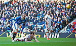 Kenny Miller heads in the equaliser for Rangers